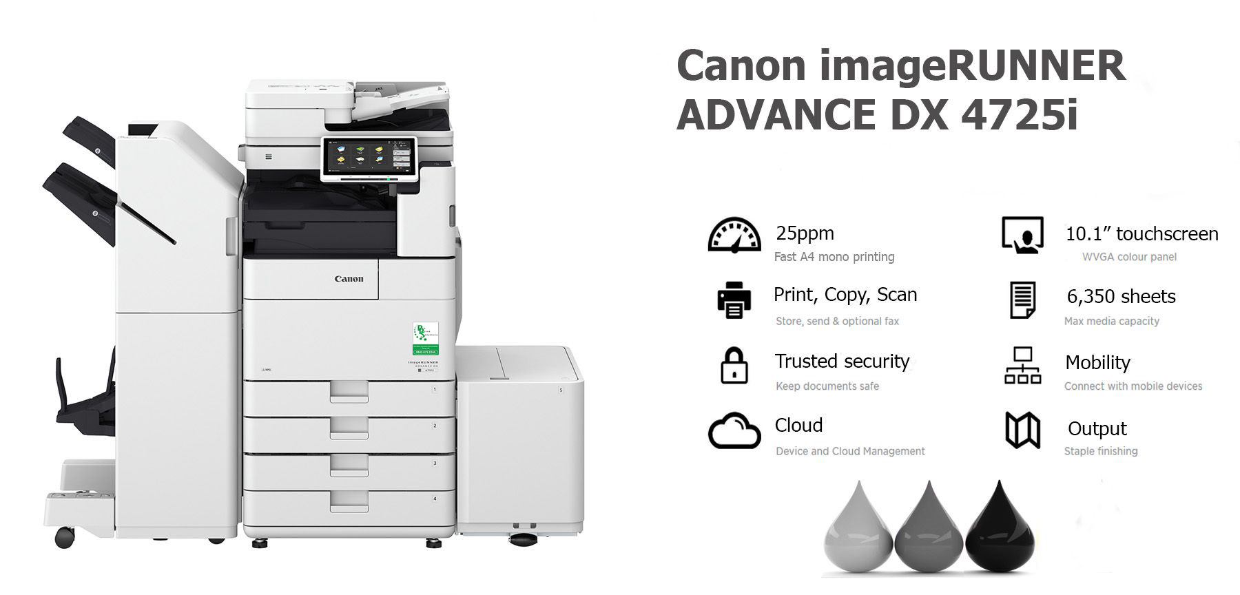 Canon imageRUNNER ADVANCE DX 4725i PHOTOCOPIER LEASE RENTAL LANCASHIRE MANCHESTER