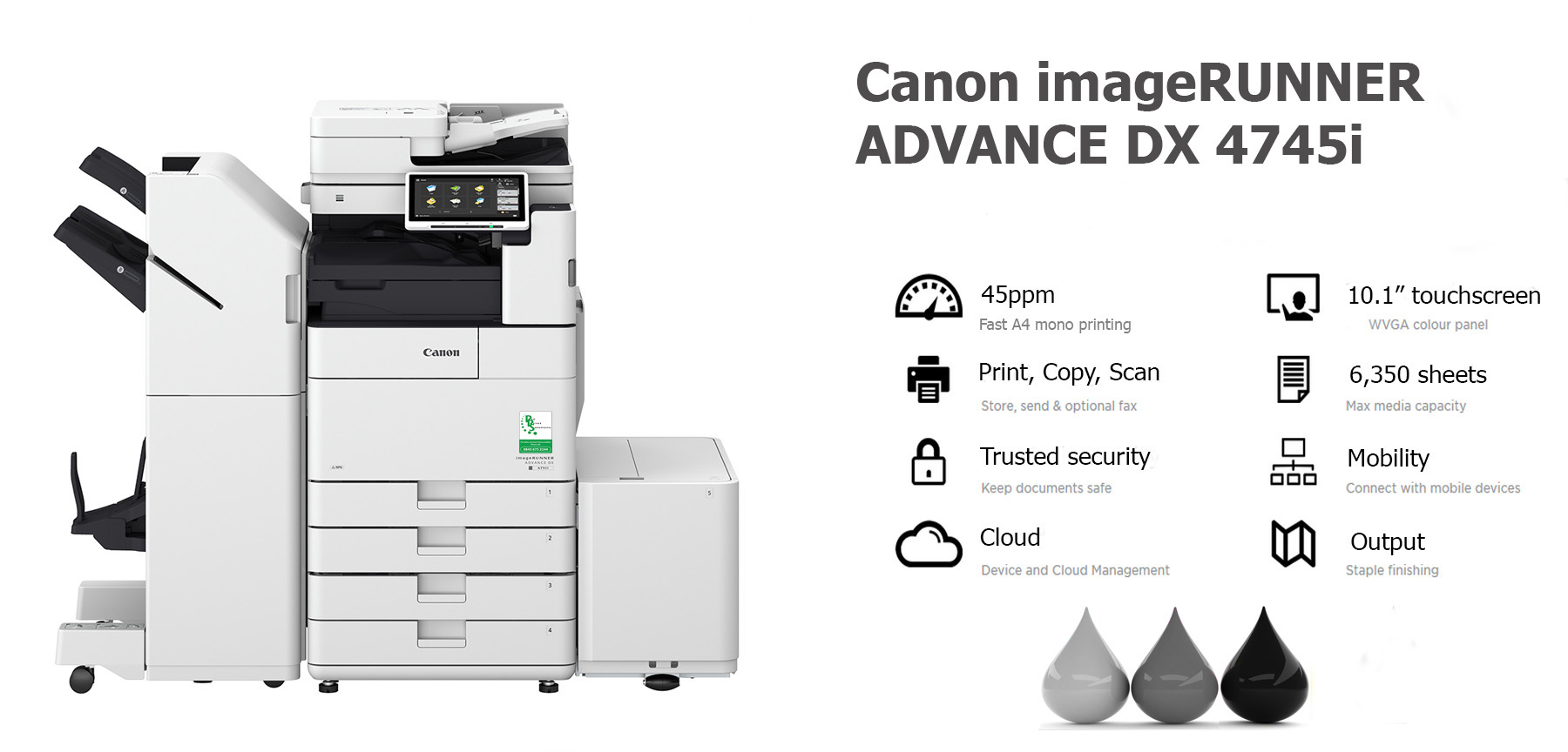 Canon imageRUNNER ADVANCE DX 4745i PHOTOCOPIER LEASE RENTAL LANCASHIRE MANCHESTER