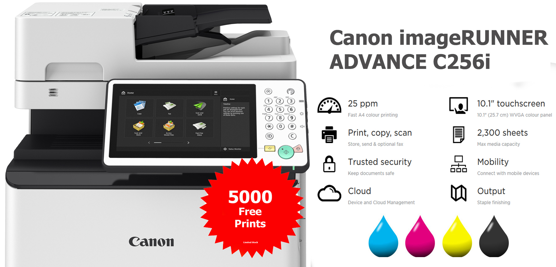 canon imagerunner advance c256i photocopier lease rental lancashire manchester