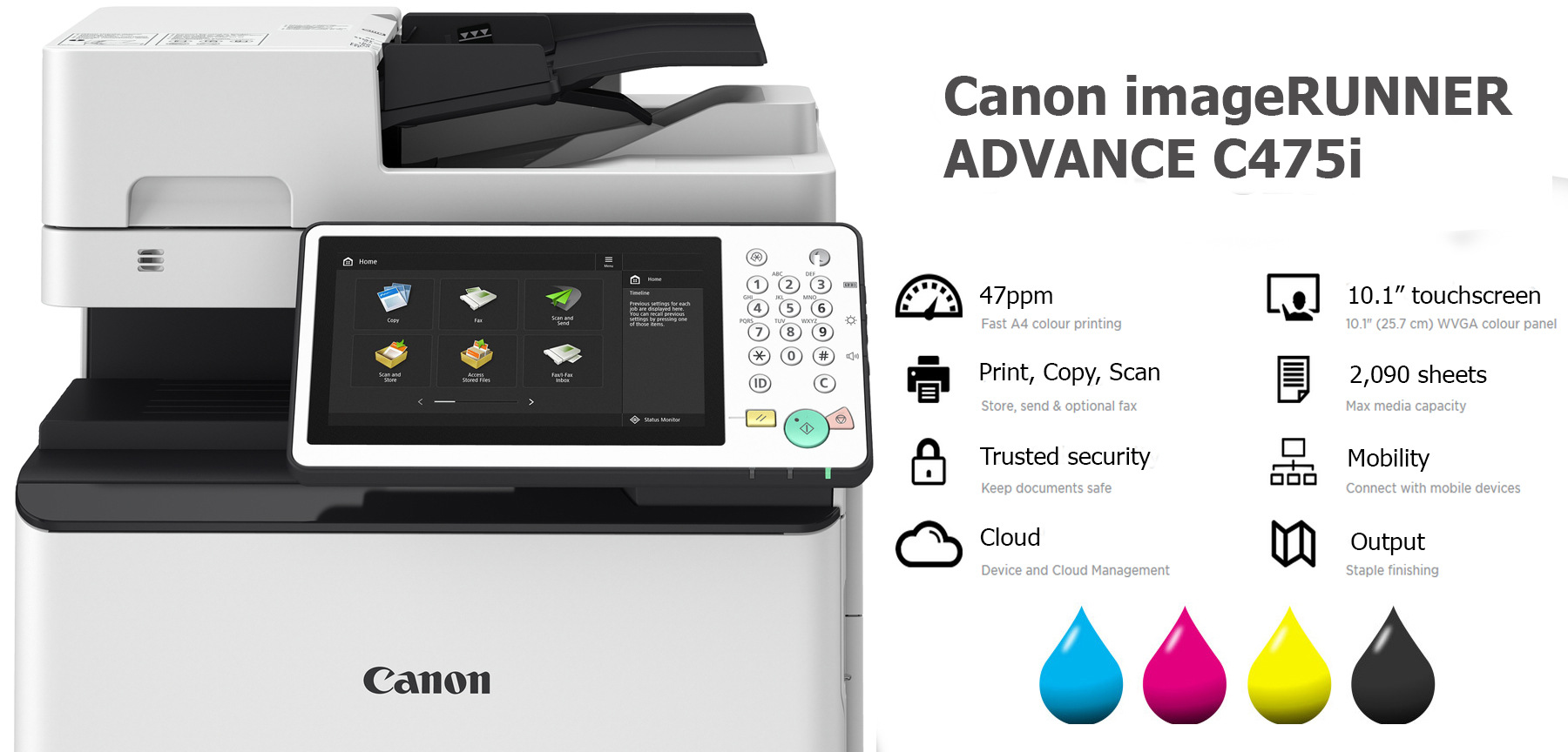 canon imagerunner advance c475i photocopier lease rental